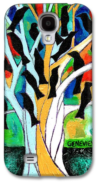 Abstracted Galaxy S4 Cases - A Symphony Of Crows Galaxy S4 Case by Genevieve Esson
