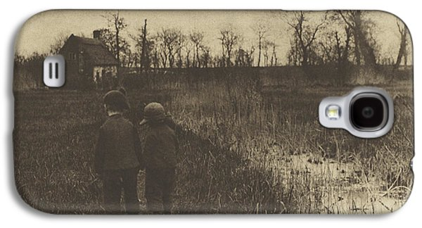 Early Spring Paintings Galaxy S4 Cases - A Toad in the Path - Early Spring in Norfolk Galaxy S4 Case by Celestial Images