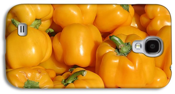 Michael Sweet Galaxy S4 Cases - A trip through the farmers market featuring Yellow Bell Peppers Galaxy S4 Case by Michael Ledray