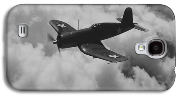 Jet Photographs Galaxy S4 Cases - A US Navy Fighter Corsair In Flight Galaxy S4 Case by American School