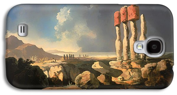 Ancient Galaxy S4 Cases - A View Of The Monuments Of Easter Island Galaxy S4 Case by William Hodges