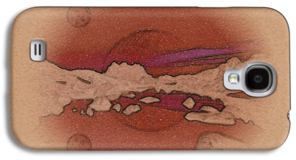 Abstract Forms Galaxy S4 Cases - A Vision of an Alien Landscape Galaxy S4 Case by Mario Carini