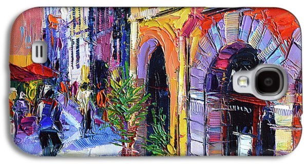 A Walk In The Lyon Old Town Galaxy S4 Case by Mona Edulesco