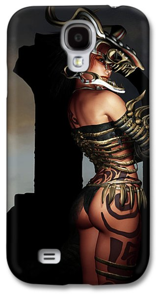 Tattoo Digital Galaxy S4 Cases - A Warrior Stands Alone Galaxy S4 Case by Alexander Butler