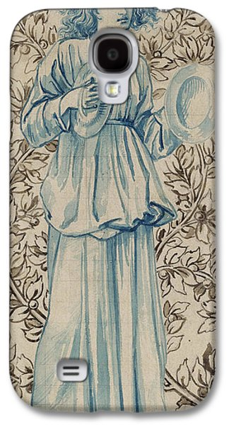 Robe Drawings Galaxy S4 Cases - A Woman playing Cymbals Galaxy S4 Case by William Morris