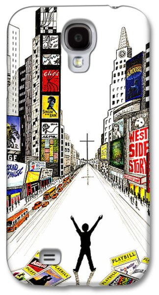 Religious Drawings Galaxy S4 Cases - A Young Mans Dream Galaxy S4 Case by Marilyn Smith