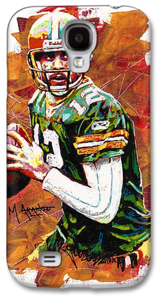 Arango Galaxy S4 Cases - Aaron Rodgers Galaxy S4 Case by Maria Arango
