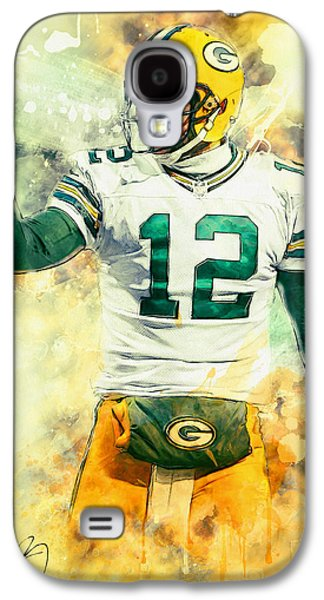 American Football Paintings Galaxy S4 Cases - Aaron Rodgers Galaxy S4 Case by Taylan Soyturk