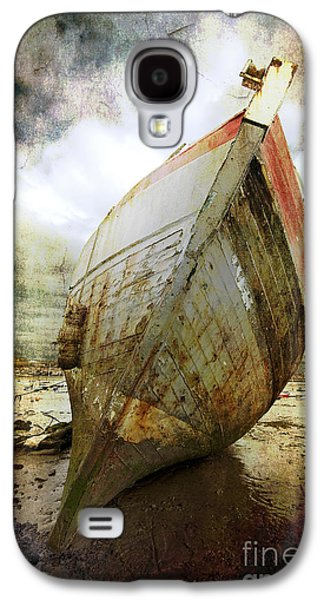 Storm Digital Galaxy S4 Cases - Abandoned Fishing Boat Galaxy S4 Case by Meirion Matthias