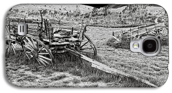 Conestoga Galaxy S4 Cases - ABANDONED WAGONS of BANNACK MONTANA GHOST TOWN Galaxy S4 Case by Daniel Hagerman