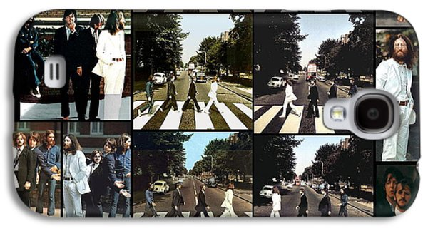 The Beatles Galaxy S4 Cases - Abbey Road Photo Shoot Galaxy S4 Case by Paul Van Scott