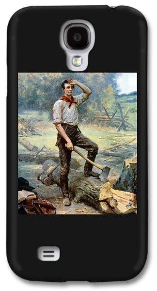 Abraham Lincoln Galaxy S4 Cases - Abe Lincoln The Rail Splitter  Galaxy S4 Case by War Is Hell Store