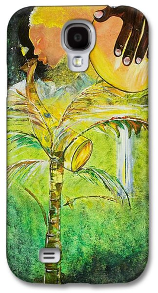 Jamaican Paintings Galaxy S4 Cases - Abeng Galaxy S4 Case by Ikahl Beckford