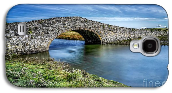 North Wales Digital Art Galaxy S4 Cases - Aberffraw Bridge Galaxy S4 Case by Adrian Evans