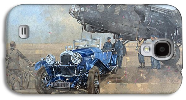 Able Mable And The Blue Lagonda  Galaxy S4 Case by Peter Miller
