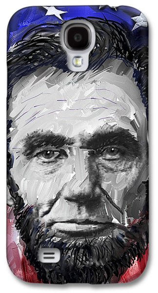Slavery Digital Art Galaxy S4 Cases - ABRAHAM LINCOLN - 16th U S PRESIDENT Galaxy S4 Case by Daniel Hagerman