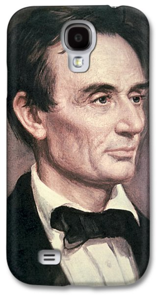 Politician Paintings Galaxy S4 Cases - Abraham Lincoln Galaxy S4 Case by George Peter Alexander Healy