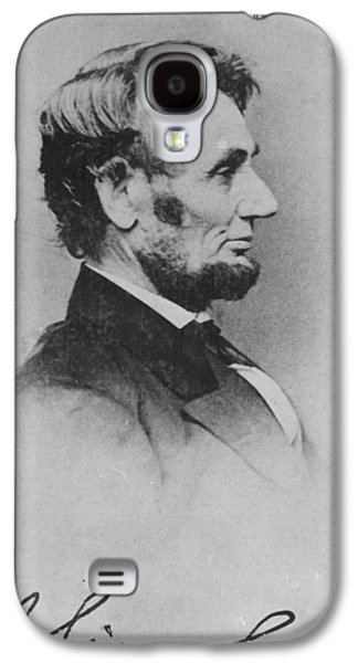 Slavery Galaxy S4 Cases - Abraham Lincoln Galaxy S4 Case by Pablo Lopez