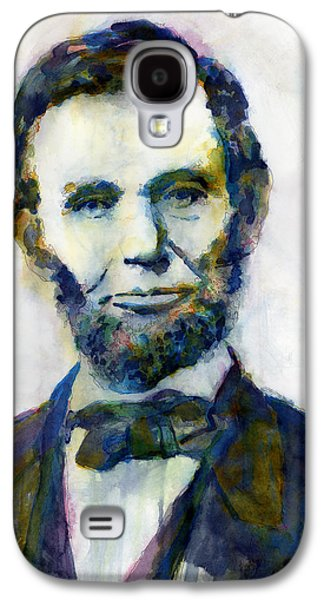 Abraham Lincoln Galaxy S4 Cases - Abraham Lincoln Portrait Study 2 Galaxy S4 Case by Hailey E Herrera