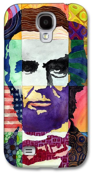 Abraham Lincoln Galaxy S4 Cases - Abraham Lincoln Portrait Study Galaxy S4 Case by Hailey E Herrera