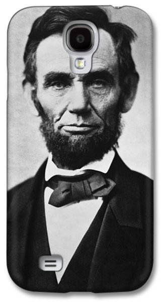 Civil War Galaxy S4 Cases - Abraham Lincoln Galaxy S4 Case by War Is Hell Store