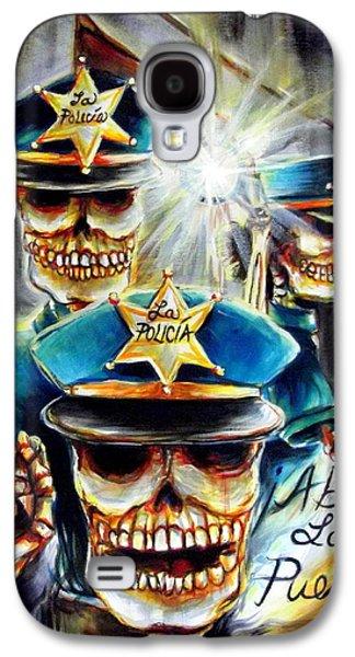 Police Paintings Galaxy S4 Cases - Abre La Puerta Galaxy S4 Case by Heather Calderon