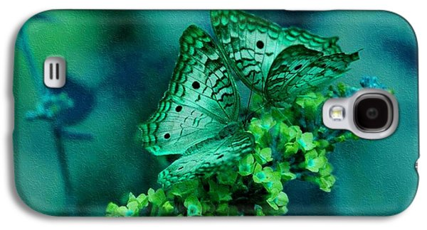 Abstract Digital Paintings Galaxy S4 Cases - Absolute Flower Gloria Catus 1 no. 1 B H b Galaxy S4 Case by Gert J Rheeders