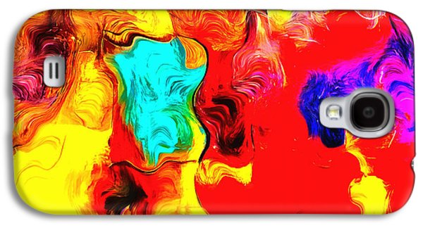 Abstract Digital Paintings Galaxy S4 Cases - Abstract 104 Galaxy S4 Case by Barbara Snyder