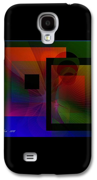 Blue Abstracts Galaxy S4 Cases - Abstract 3679 Galaxy S4 Case by Iris Gelbart