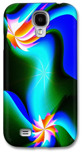 Abstract Digital Galaxy S4 Cases - Abstract 615 1 Galaxy S4 Case by Kae Cheatham