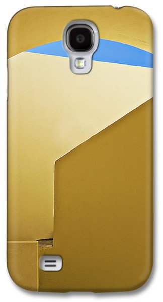 Diagonal Galaxy S4 Cases - Abstract Architecture In Yellow Galaxy S4 Case by Meirion Matthias
