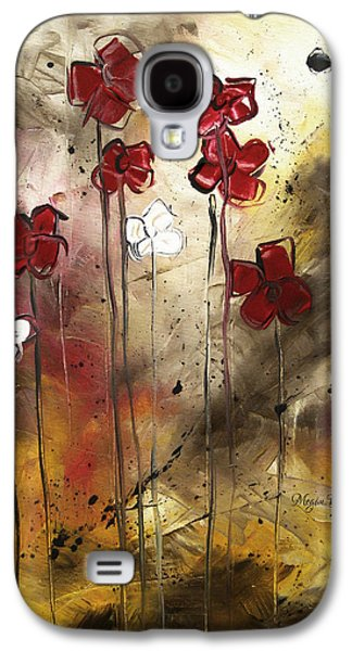 Abstract Art Original Flower Painting Floral Arrangement By Madart Galaxy S4 Case by Megan Duncanson