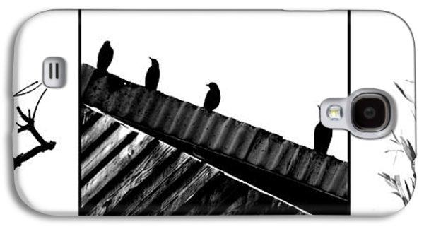 Digital Pyrography Galaxy S4 Cases - Birds Galaxy S4 Case by Baptiste Riethmann