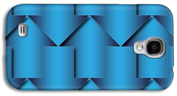 Concept Tapestries - Textiles Galaxy S4 Cases - Abstract Blue  Arrows Pattern Galaxy S4 Case by Jozef Jankola
