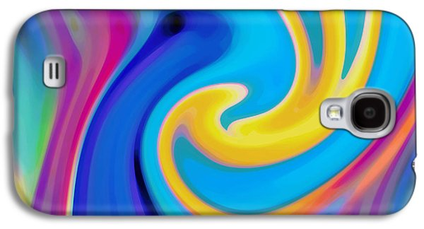 Abstract Blue Flower Blooming Galaxy S4 Case by Amy Vangsgard