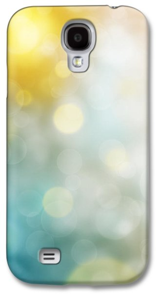 Sun Galaxy S4 Cases - Abstract Bokeh Galaxy S4 Case by Atiketta Sangasaeng