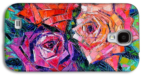 Abstract Bouquet Of Roses Galaxy S4 Case by Mona Edulesco