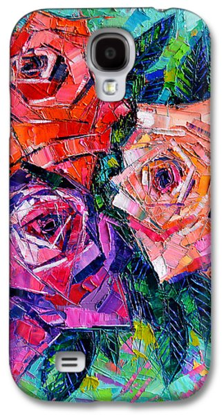 Abstract Forms Galaxy S4 Cases - Abstract Bouquet Of Roses Galaxy S4 Case by Mona Edulesco