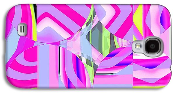 Abstract Digital Digital Galaxy S4 Cases - Abstract Circles Galaxy S4 Case by Ted Packman
