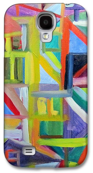 Colorful Abstract Galaxy S4 Cases - Abstract Cityscape Galaxy S4 Case by Heidi Douhab
