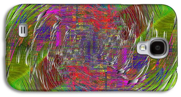 Blue Abstracts Galaxy S4 Cases - Abstract Cubed 296 Galaxy S4 Case by Tim Allen