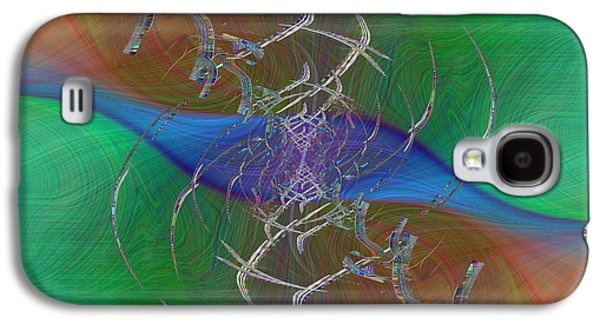 Abstract Digital Digital Galaxy S4 Cases - Abstract Cubed 321 Galaxy S4 Case by Tim Allen