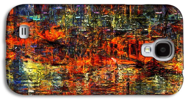 Light Galaxy S4 Cases - Abstract Evening Galaxy S4 Case by Kiki Art