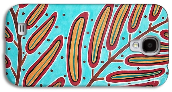 Abstract Prints For Sale Paintings Galaxy S4 Cases - Abstract Ferns Galaxy S4 Case by Karla Gerard