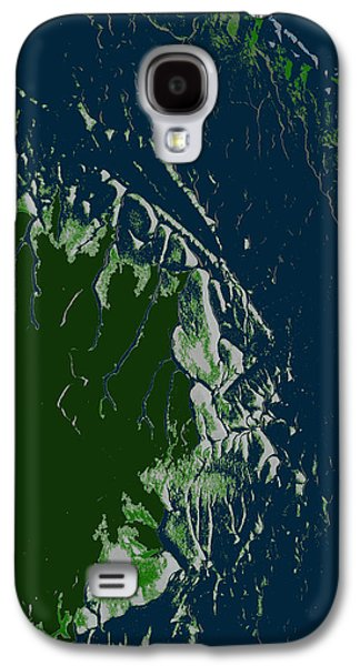 Nature Abstract Galaxy S4 Cases - Abstract Forest and Ocean. Design 65 Galaxy S4 Case by Elisa Sanacore