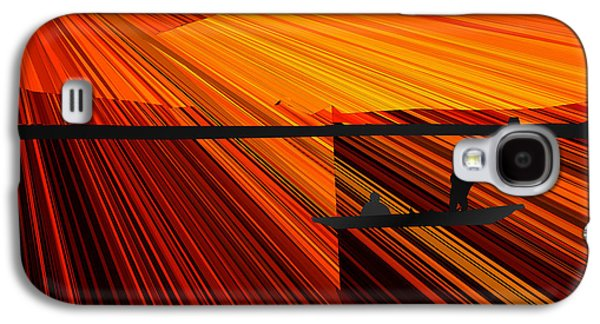 Abstract Digital Paintings Galaxy S4 Cases - Abstract Gondola Ride at Sunset Galaxy S4 Case by Bruce Nutting