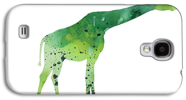 Abstract Green Giraffe Minimalist Painting Galaxy S4 Case by Joanna Szmerdt