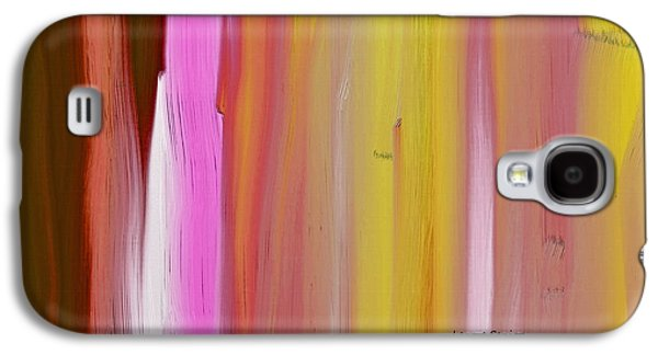 Abstract Horizontal Galaxy S4 Case by Lenore Senior