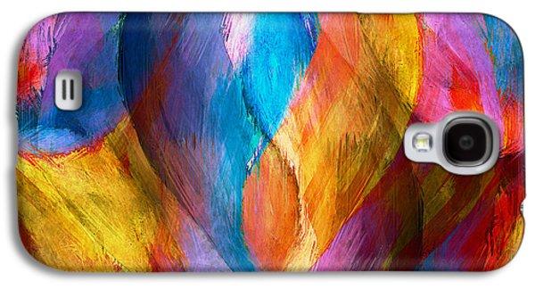 Abstract In Aqua Galaxy S4 Case by Brenda Bryant