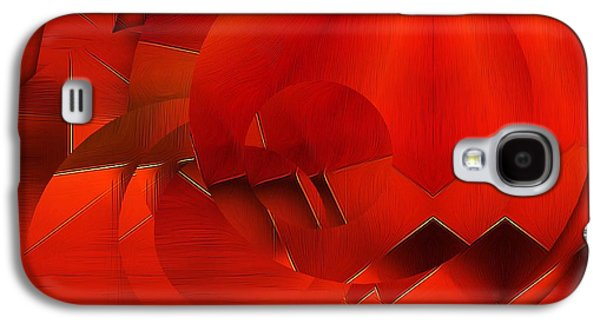 Oranger Galaxy S4 Cases - Abstract In OrangeRed Galaxy S4 Case by Gabriella Weninger - David